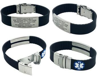 Medical Alert Bracelet for Women, Medical Bracelet, Alzheimers Bracelet, Diabetic Bracelet, ID Bracelet, Custom Bracelets
