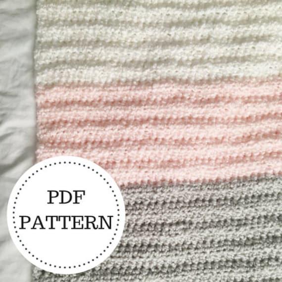 Pattern For The Easiest Crochet Baby Blanket Crochet Pattern Etsy