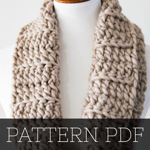 Pattern For Chunky Cowl Crochet Pattern Crochet Cowl Etsy