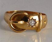 18kt Golden Antique buckl...