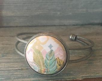Antique Silver Open Back Bangle Bracelet