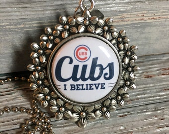 Chicago Cubs Jewelry, Necklace, Baseball, Interchangeable, Sports, World Series, Pick any 2 inserts