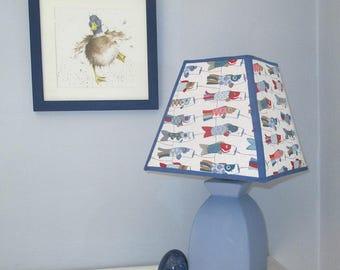 8 inch square lampshade/Koi Nobori/Japanese flying carp/Birth gift/Child's room