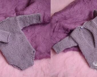 Stylish Newborn Onesie, Newborn Photo Prop, Cozy Knits for Babies