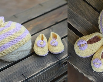 Charming Newborn Knit Beanie Hat, Newborn Photo Prop, Hair Accessory for Babies