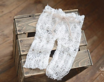 Soft Newborn Pants, Newborn Photo Prop,  Cozy Knits for Babies