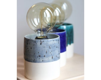 Hand-thrown Table Lamp (Made To Order) By FICH ceramics