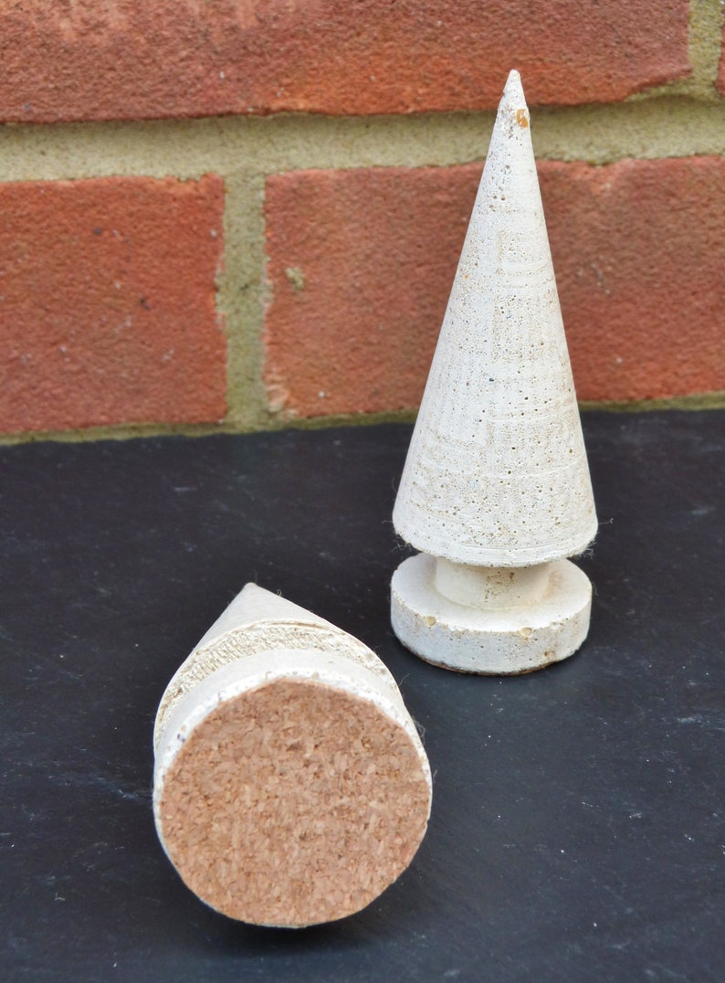 rustic Tree Ring Cone industrial and unique Concrete Jewellery Storage Wedding Ring Holder or Xmas Gift