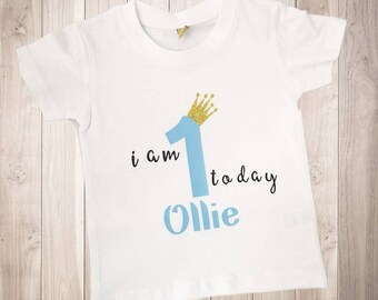 Personalised 1st First Birthday T Shirt