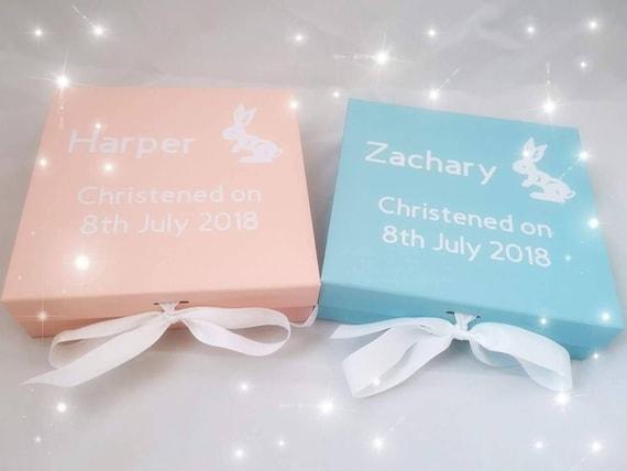 PERSONALISED NEW BABY BLUE WOODEN BRACELET BIRTHDAY//CHRISTENING//WEDDING–ANY NAME