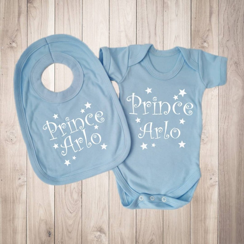 Personalised NAVY bodysuit and teddy bear with childs name and date of birth PLEASE READ TECHNICAL DETAILS