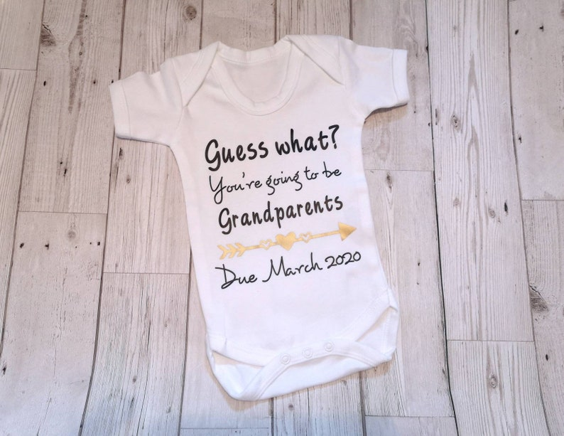0-3 Months Personalised Baby Announcement Baby Announcement Pregnancy Announcement Pregnancy Gift What Should Call You Gift for Grandparents Baby Vest Grandparents Announcement Vest