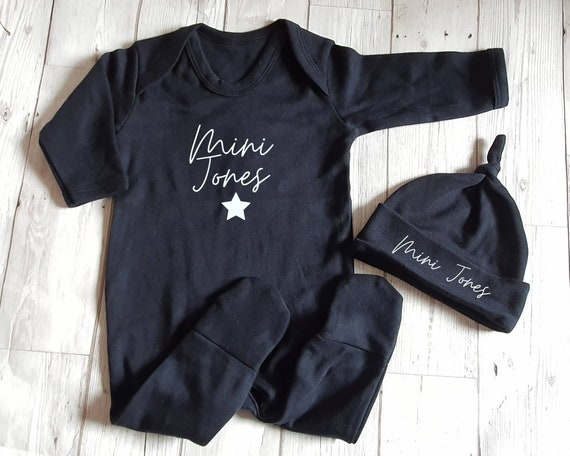 Personalized Baby Outfit Outfit with name on it Newborn Baby Gift Outfit New Baby gift Name Romper Baby Name Outfit New Baby Outfit