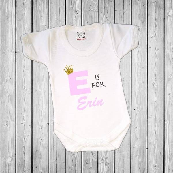 BABY VEST // Bodysuit Baby name announcement LETTER PERSONALISED BABY NAME