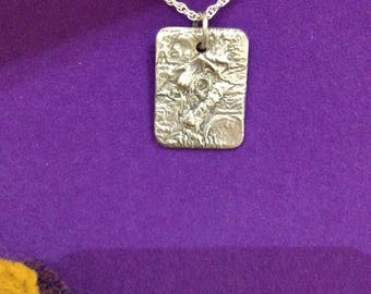 Small reticulated silver pendant
