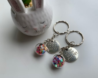 Never give up Keyrings   mental health positivity hope recovery gift
