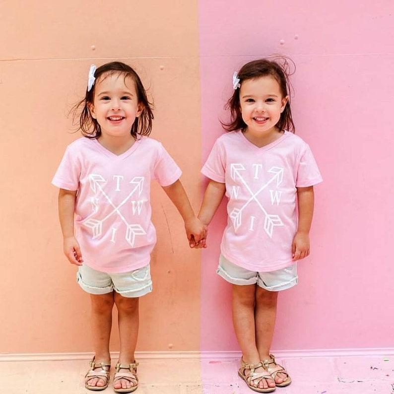 Twin Clothes Cute Twin Shirts Twin Arrow Shirts Twin Tees Twins Twin shirts twin Girls Twin Boys Matching twin shirts
