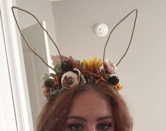 Woodland Rabbit Flower Crown