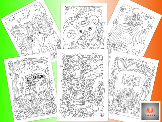 Magic of Ireland  colouring pages by Sassy Colouring St