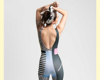 Full Moon Onesie-jumpsuit-romper-catsuit-bodysuit-80s-90s-postmodern-yokohonda-festival-burningman-stretchy-lycra-playsuit