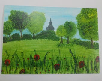 Poppies at Chichester greeting card blank