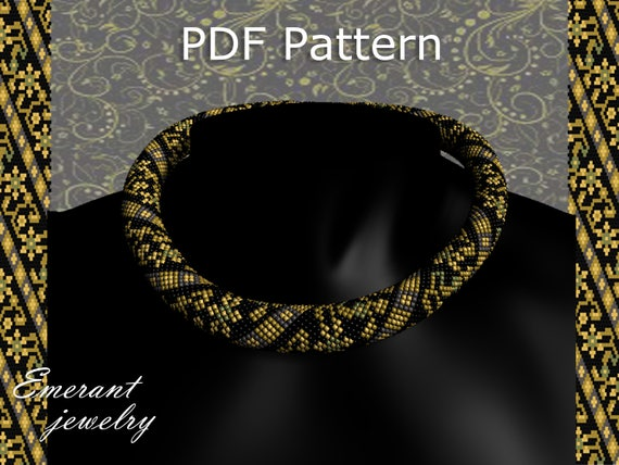 Flower Bead Crochet Rope Pattern Seed Bead Necklace Tutorial