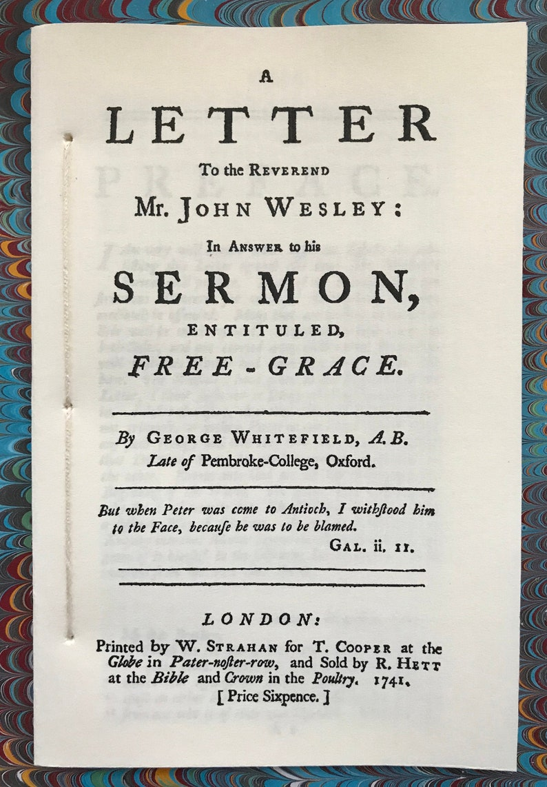 Free Grace or A Letter to the Reverend Mr. John Wesley image 0
