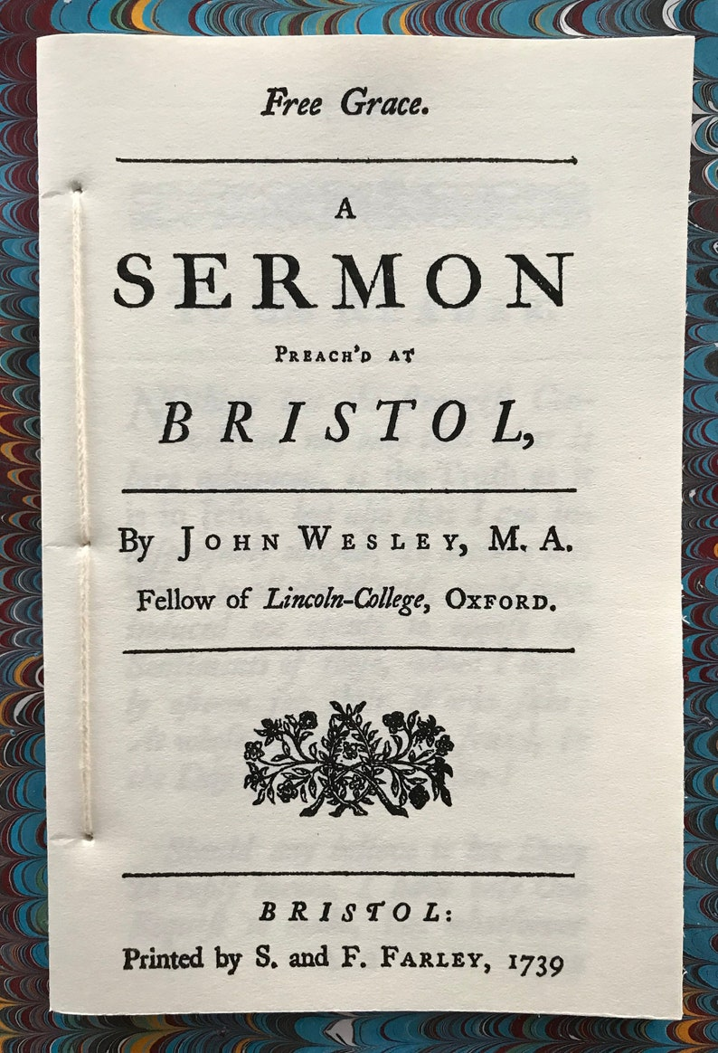 Free Grace by John Wesley 1739 image 0