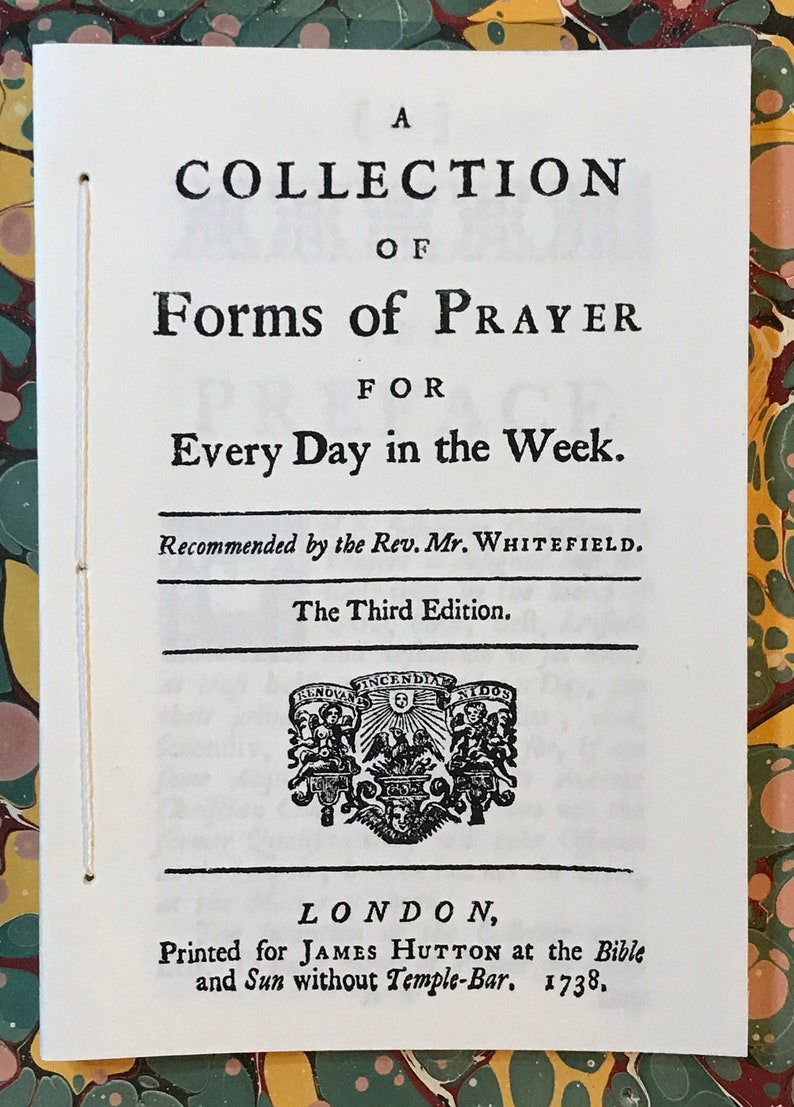A Collection of Forms of Prayer For Every Day in the Week image 0