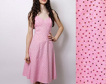 51b782933a3 1950 s Style halter neck dress