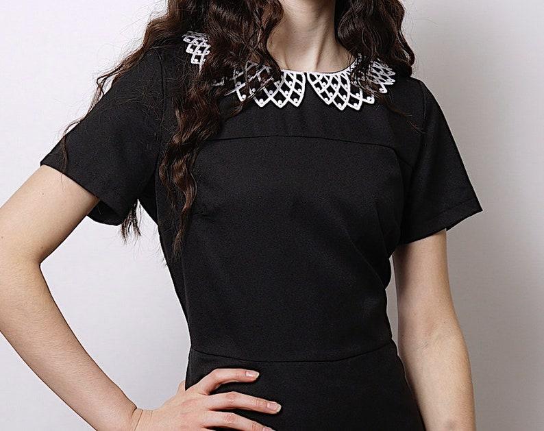 b3c605f4f0 Vintage black dress 50 s 60 s style black dress