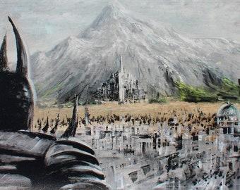 Herr der Ringe Leinwand Herr der Ringe Wand Kunst Gondor | Etsy