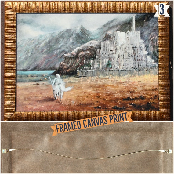Herr der Ringe Leinwand, Nazgul & Mordor Druck, Mordor Landschaft, Mittelerde Druck, Tolkien Kunst von Naci Caba