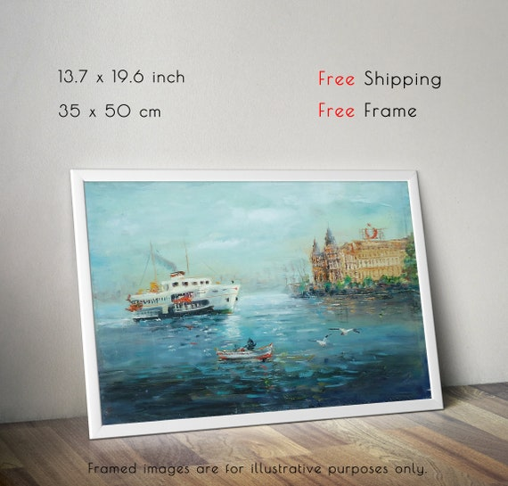 Istanbul Ocean Painting Art Picture