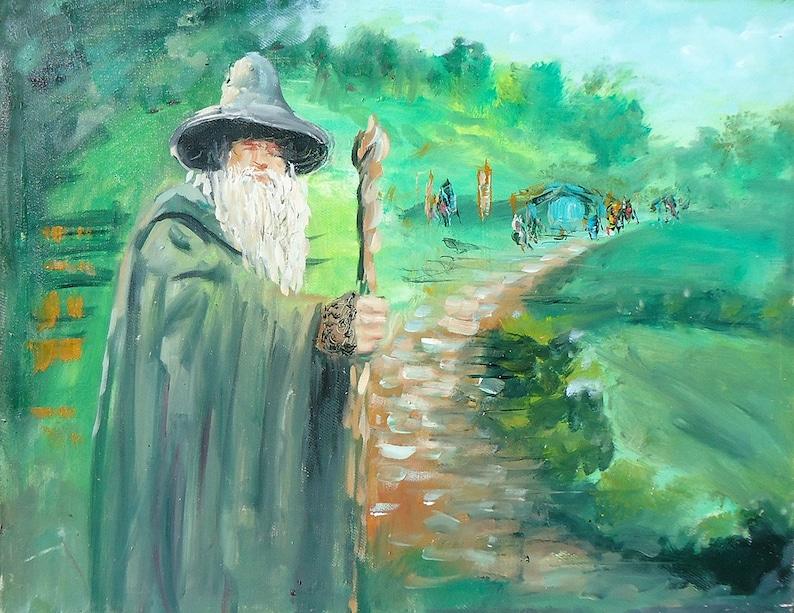 3f918c5fcb7 LOTR Gandalf Wall Art LOTR Oil Painting LOTR Art Gandalf