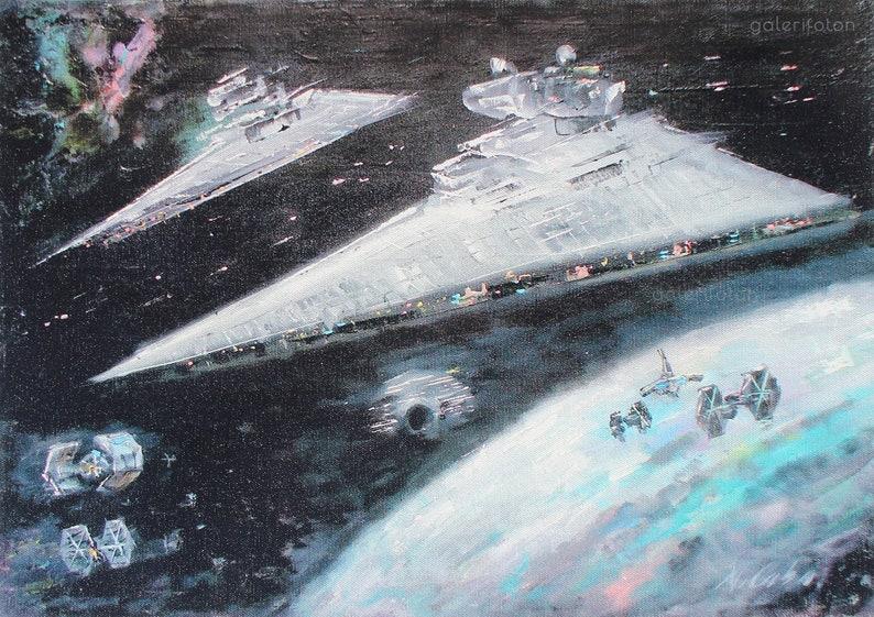 Star Destroyer Canvas Print Star Wars Print Star Wars X Wing Etsy