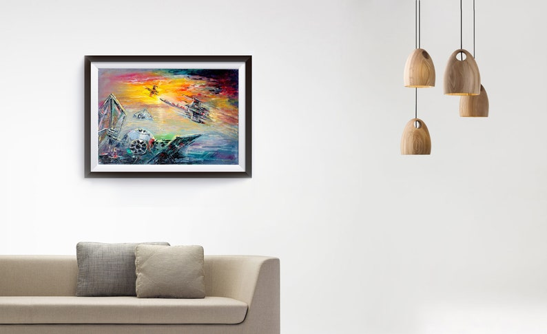 Tie Fighter Down Canvas Print Tie Fighter Wall Art Print by Naci Caba