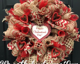 Valentine Wreath Etsy