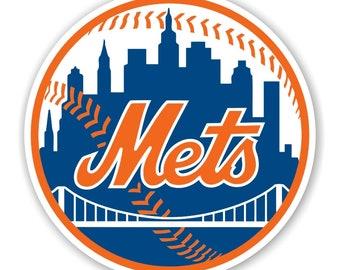 Met Vinyl Decal Sticker Laptop water bottle New York NY Mets Mr