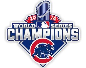 Chicago Cubs World Series Champions 2016 Decal / Sticker Die cut