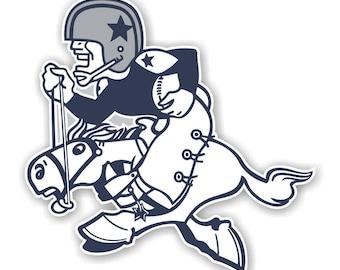 Dallas Cowboys (1960-1970) Die Cut Decal