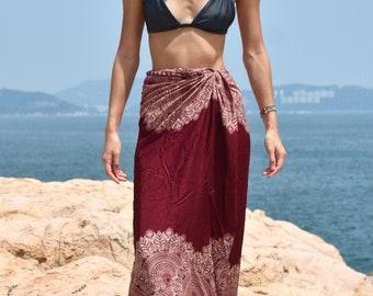 Beach Wrap Women Sarong Thailand Boho African Hippie Dress Skirt Boho Pareo Mandala Coverup Beach Towel