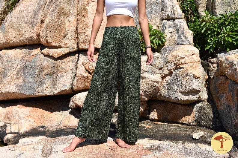 Slit Pants Boho Wide Leg Wrap Palazzo Harem African Beach Clothing Thailand Trousers Mandala Yoga High Waisted Meditation