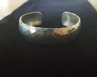 SALE,Sterling silver bracelet, hammered sterling silver bracelet,vintage sterling silver cuff,hammered sterling silver cuff,sterling cuff