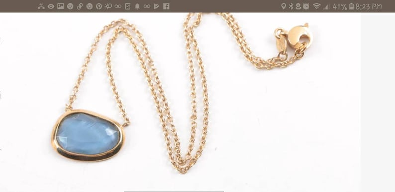 Authentic Sterling silver necklace earrings blue stones modern pierced gold washed gilt vintage