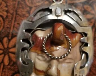 SALE,Sterling silver necklace,vintage taxco necklace,taxco pendant,Sterling silver pendant,authentic Taxco pendant,Pepe Romano original