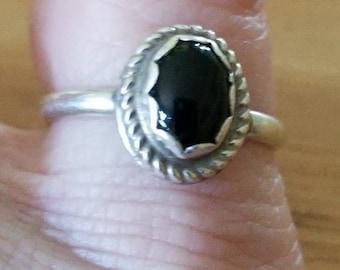 Sterling silver onyx ring,Sterling silver ring,onyx ring,graduation,girl,birthday