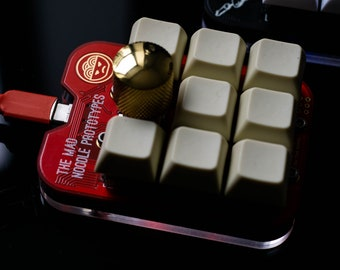 The Noodle Pad v1.0: Custom Mechanical Keypad with Encoder Knob