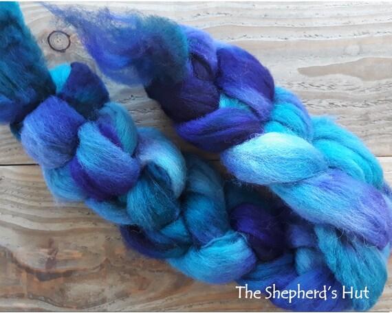Gotland hand dyed braid /'Blue Stone/' 100 g