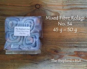 Mixed Fibre Rolags No.34 45/50 g for spinning and fibre craft.
